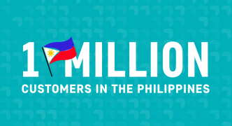 Celebrating 1 million customers in the Philippines!