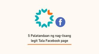 5 Palatandaan ng nag-iisang legit Tala Facebook page